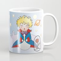 the little prince Mugs featuring Kokeshi The little prince by Pendientera