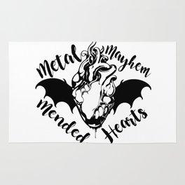 Metal Mayhem and Mended Hearts Rug