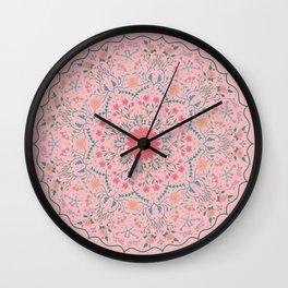 Flower Rounds Mandala Wall Clock