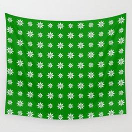 geometric flower 52 green Wall Tapestry