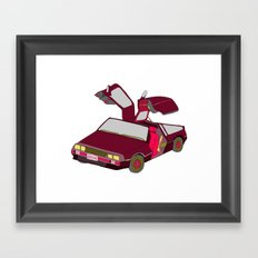 cool girls like flying cars Framed Art Print