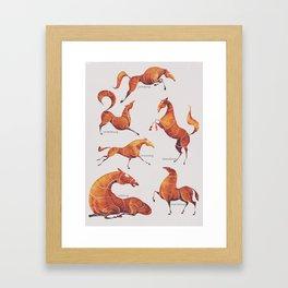 Horse poses Framed Art Print
