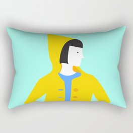 Girl in coat Rectangular Pillow