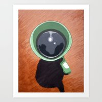 Morning black Art Print