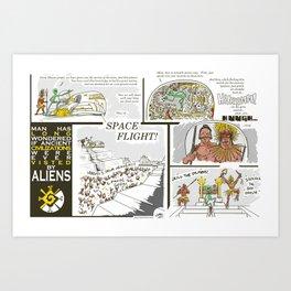Ancient Aliens Art Print