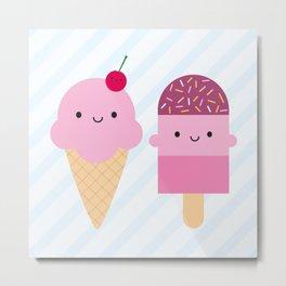 Summer Ice Cream Treats Metal Print