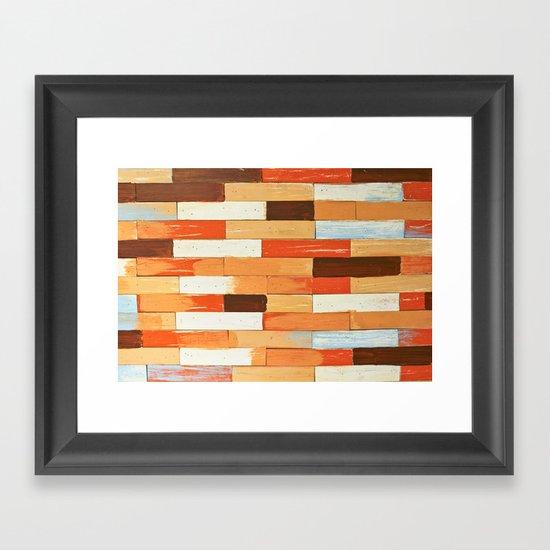Colorful brick wall Framed Art Print