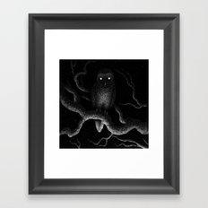 Drawlloween 2016: Owl Framed Art Print