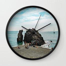 Ligurian Beach Cinque Terre Wall Clock