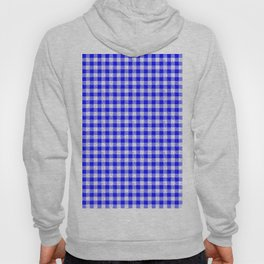 Gingham Blue and White Pattern Hoody