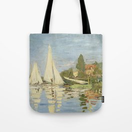 Regattas at Argenteuil by Claude Monet Tote Bag