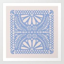 Fiesta de Flores Serenity Blue Art Print