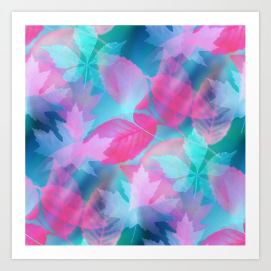 Dreamy Leaves On The Water Art Print