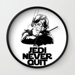 Jedi Never Quit Wall Clock