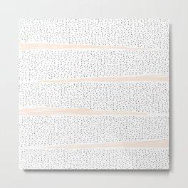 Pink Dalmation Polka Dot Stripes Metal Print