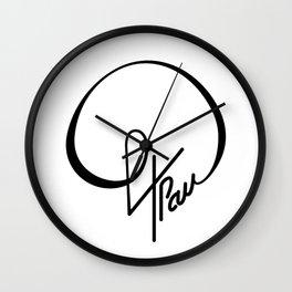 64 Pau Wall Clock
