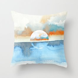 Orange Sea Drop Throw Pillow