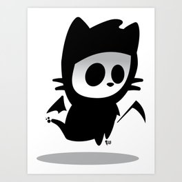 Petitemort — chat Art Print