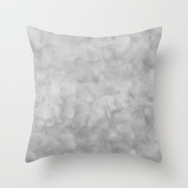 Soft Gray Clouds Texture Throw Pillow