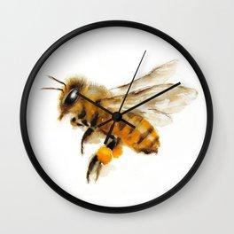 Honey Bee collecting pollen Wall Clock
