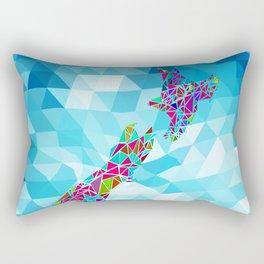 New Zealand Map : Square Rectangular Pillow