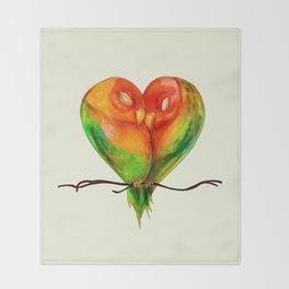 Lovebirds Throw Blanket