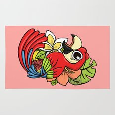 The Pink Pretty Parrot Rug