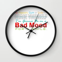 Brace Yourself Funny Braces Dentist Dentistry Dental Surgeon Orthodontics Gift Wall Clock