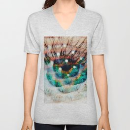 Green Eyes Hypnotize Unisex V-Neck