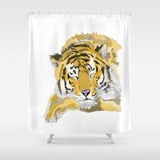 Sleepy Tiger Shower Curtain