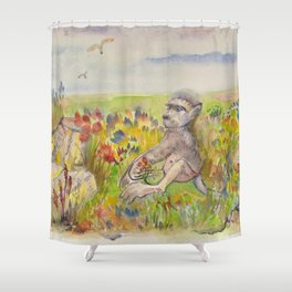Sammy from Cape Point Shower Curtain