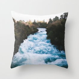 Huka Falls Throw Pillow