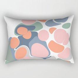 Abstract Shape Flower Art Rectangular Pillow