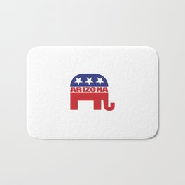 Arizona Republican Elephant Bath Mat