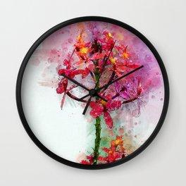 Epidendrum II Wall Clock