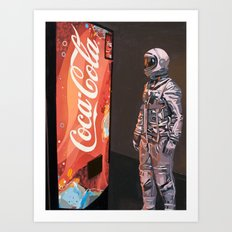 The Coke Machine Art Print