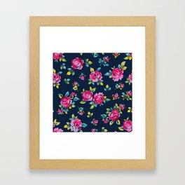 Raspberry Roses Framed Art Print