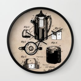 patent China Coffee pot - Blanke - 1909 Wall Clock