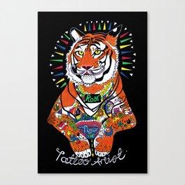 Tiger the Tattoo Artist Canvas Print
