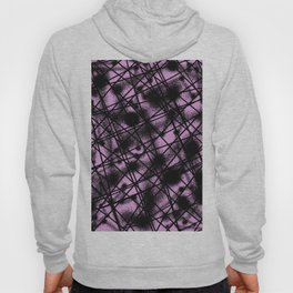 Web Of Lies - Black and pink conceptual, abstract, minimalistic artwork Hoody