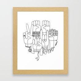 We can! Framed Art Print