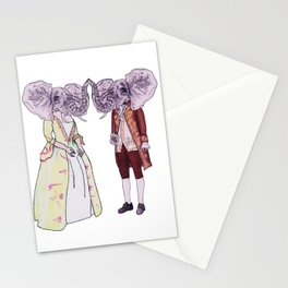 Madame and Monsieur Elephant Stationery Cards