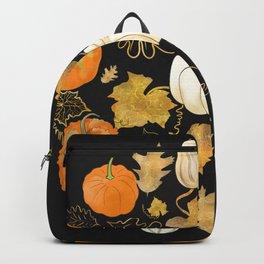 Harvest of the Golden Season - Halloween Pumpkins Backpack