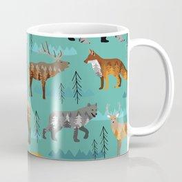 Mountain animals with trees and mountains Coffee Mug