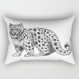 Snow Leopard cub g142 Rectangular Pillow