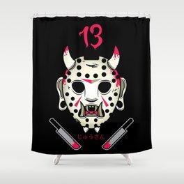 Jasonosan Friday the 13th Shower Curtain