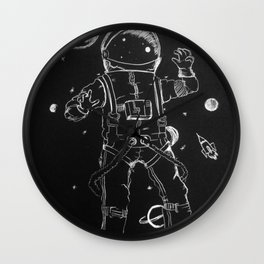 Exploration: Outer Space Wall Clock