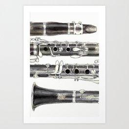 Klarinette Art Print