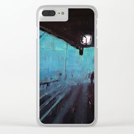 Blue Platform Clear iPhone Case