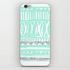 mint tribal & glitter iPhone & iPod Skin